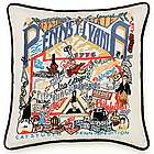 Hand Embroidered Pennsylvania State Pillow