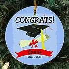 Personalized Ceramic Graduation Ornament