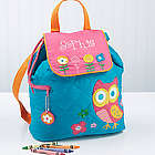 Lovable Owl Girl's Personalized Backpack