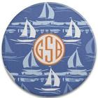 Sail Away Round Glass Cutting Board