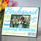 Something Blue Personalized Bridesmaid Picture Frame