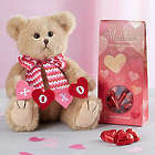 Bearington Valentine's Day Teddy Bear and Chocolates