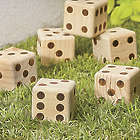 6 Wooden Yard Dice
