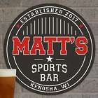 Personalized Sports Bar Round Wall Sign