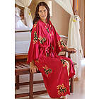 Women's Hibiscus Red Batik Robe