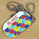 Personalized Puzzle Autism Awareness Dog Tag