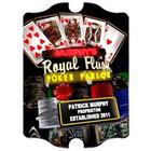 Personalized Royal Flush Nighttime Marquee Vintage Sign
