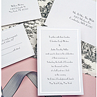 Pearl Border White Wedding Invitation Kit