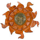 Aztec Sun Iron Wall Adornment