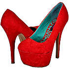 Allure Red Lace Women Platform Pumps