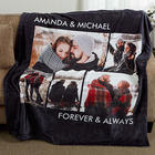 Personalized 5 Photos Fleece Blanket