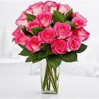 18 Pink Pearl Roses with Contempo Vase & Spa Set