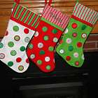 Stripes and Dots Personalized Christmas Stocking