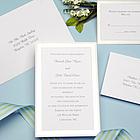 Platinum Border Wedding Invitation Kit