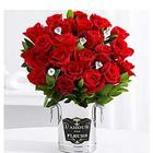 'Diamonds' and 24 Red Roses with Champagne Bucket & Chocolates