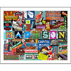 Madison Wisconsin Collage Art Print