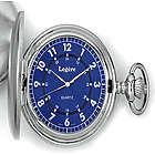 Men's Silver Tone Pocket Watch