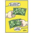 Bush Bucks Funny Birthday Card
