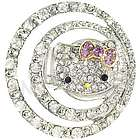 Crystal Kitty Eclipse Adjustable Ring