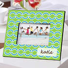Personalized Blue Links Color Bright 4x6 Frame