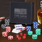American Heroes Personalized Poker Set