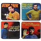 Kirk and Spock Star Trek Coaster Set