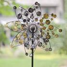 Gold and Silver Dots Metal Wind Spinner