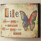 Life Isn't About Waiting Butterfly Art