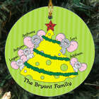 Mice Family Personalized Ceramic Ornament