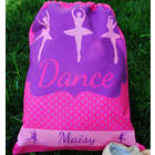 Personalized Drawstring Dance Tote