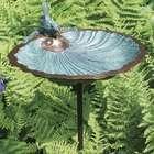 Scalloped Shell Brass Birdbath