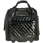 Wheeled Underseat Carry-On with Back-Up Bag in Quilted Black