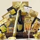 Sophisticate's Champagne Bottle Gourmet Gift Basket