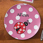Girl's Ladybug Love Personalized Plate