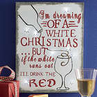 I'm Dreaming of a White Christmas Lighted Wall Art