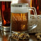 Personalized Beer Mug with Silver Rim