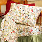 Cat Pattern Queen Flannel Sheet Set