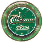 University of North Carolina at Charlotte Neon Clock