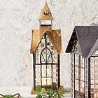 Hampton House Glass Panel Architectural Candle Lantern