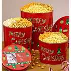4 Flavors of Merry Christmas Popcorn in Tins