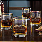 Take Flight Pilotwings Custom Gold Rim Whiskey Glasses