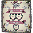 Two Hearts - One Love Wedding Afghan