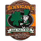 Personalized Irish Pub and Grub Vintage Tavern Sign