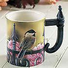 Chickadee Garden Bird Sculpted Mug