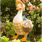 Hand-Painted Gardening Duck Outdoor Statue