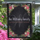 Posh Floral Welcome Personalized Garden Flag