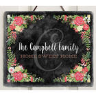 Posh Floral Welcome Personalized Slate Plaque