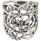 Floral Filigree Sterling Silver Ring