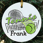 Tennis Personalized Ceramic Ornament