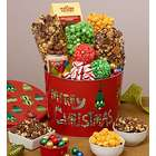 Snacks and Sweets in 2 Gallon Merry Christmas Tin